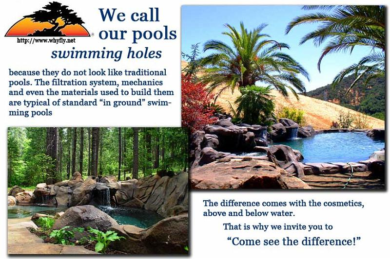 photos of natural design pools and swimming holes in California ...