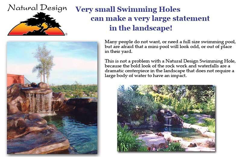 Very small swimming pools can make a very large statement in the ...