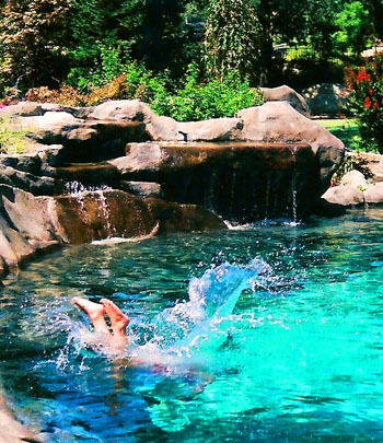 Natural design for Natural rock swimming pools