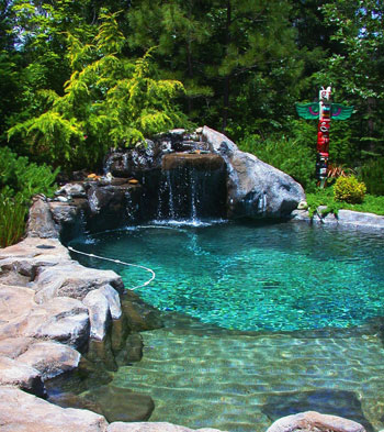 Natural Design swimming pool and landscape design photos and information