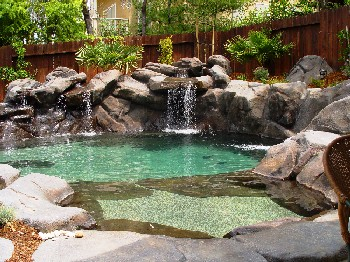 Natural Pool Designs find this pin and more on landscaping original post natural pool Natural Design Swimming Pool And Landscape Design Photos And Information