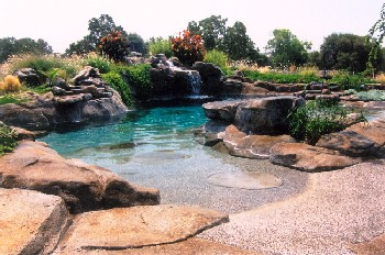 Natural design - Beach entry swimming pool designs ...
